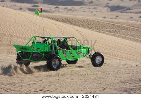 Carril de arena verde