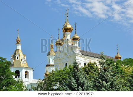 The Pokrovsky Cathedral in Kharkiv