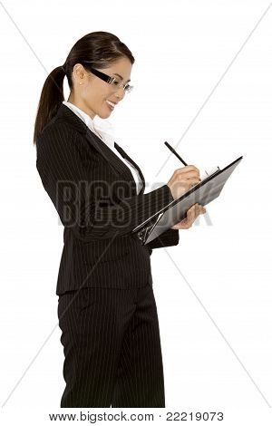 Woman Writing Notes