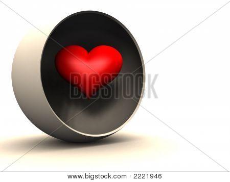 Heart In Hollow Globe