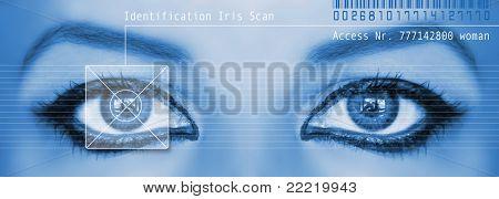 digital eye scan of a woman
