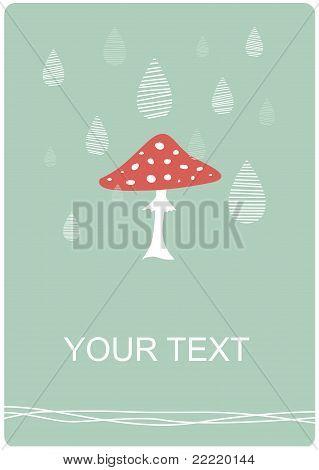 Rainy day mushroom