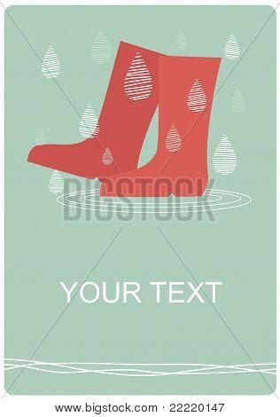 Rainy day boots
