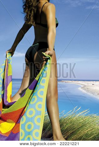 beautiful woman beside the ocean. A further picture of her is in my portfolio.