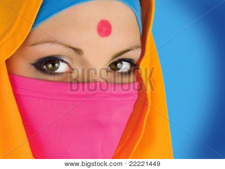 face of a indian woman.