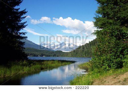 Alaskan Lake And Stream