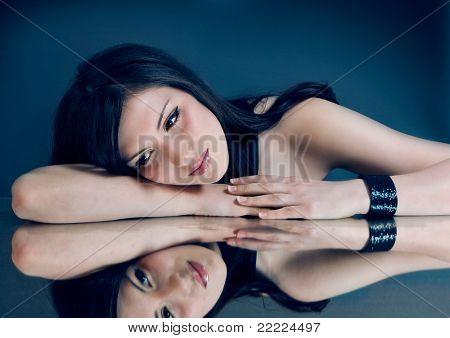 Porträt einer schönen sinnliche Frau