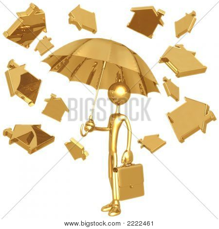 Raining Golden Home Symbols