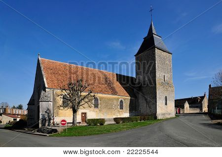 Church of Bourf le Roi in France