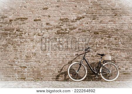 Black Retro Vintage Bicycle With