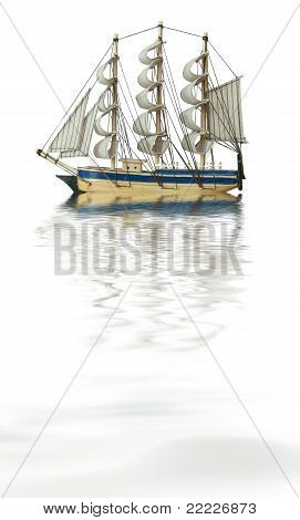 Old Style Ship In Water