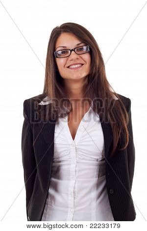 Beautiful Business Woman Smiling
