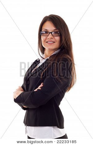 Beautiful Business Woman Standing