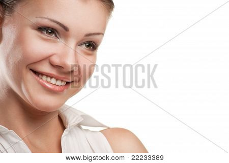 thoughtful smiling business woman portrait