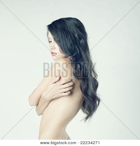Beautiful Nude Woman With Long Hair