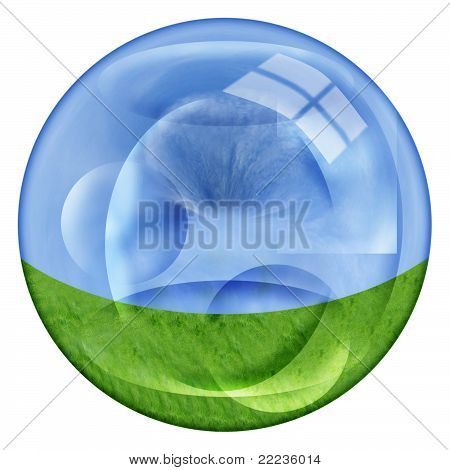 Clear Ball On White Background