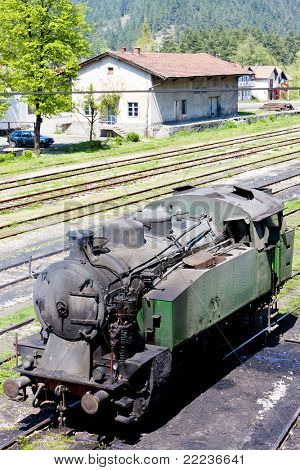 steam locomotive, delivery point in Oskova, Bosnia and Hercegovina