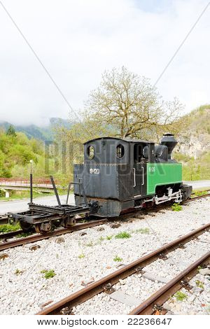 steam locomotive, Dobrun, Bosnia and Hercegovina