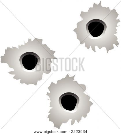 Bullet Holes Vector.Eps