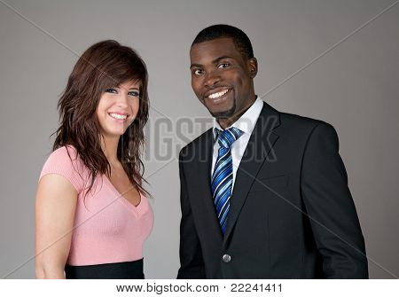 Young Smiling Business Partners