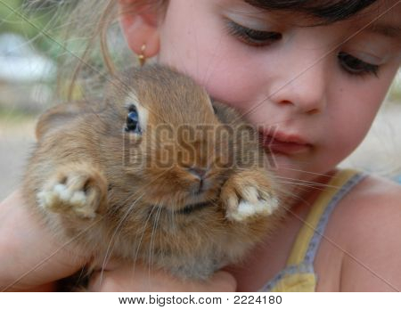 Little Girl And Bunny