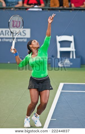 Serena Williams, USA, plays in semifinal game at the Bank of the West Classic
