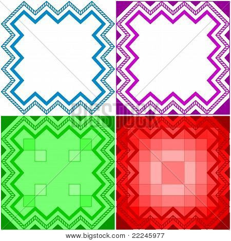 Abstract geometrical pattern, set