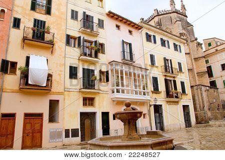 Plaza  sant Jeroni Majorca in Palma de Mallorca barrio Calatrava Balearic spain