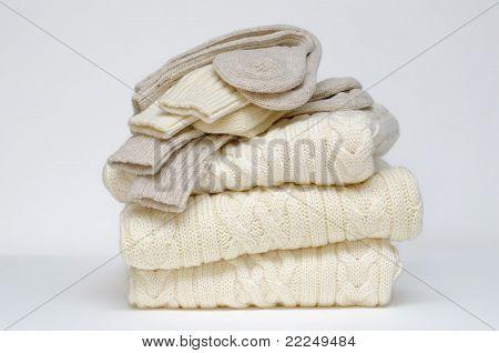 Traditional Irish Aran knit sweaters