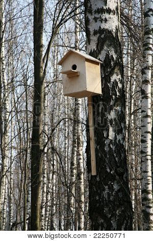 Wooden starling-house
