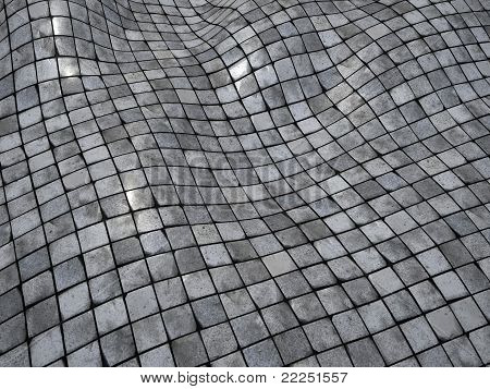Wobble Mosaic Tile Floor Wall Surface