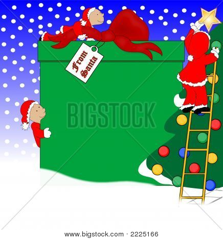 Christmas Present And Elves