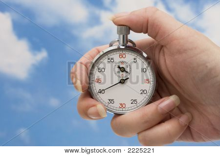 Stopwatch In Hand