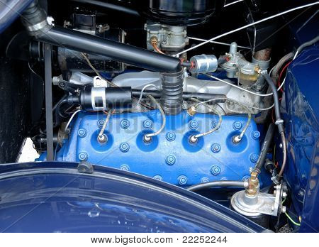 1930's Vintage Car Engine