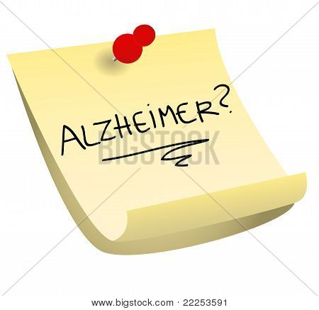 Alzheimer Sticky Note