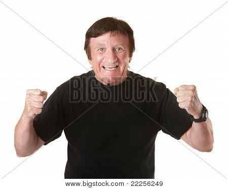 Hombre maduro excitado