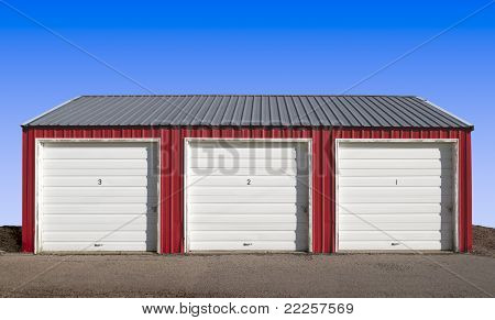 Three Garage Doors Storage