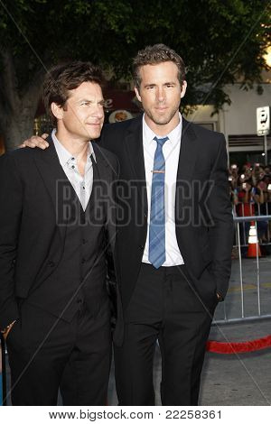 LOS ANGELES - AUG 1: Jason Bateman; Ryan Reynolds at the premiere of Universal Pictures' 'The Change-Up' held at the Regency Village Theater on August 1, 2011 in Los Angeles, California