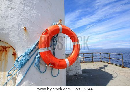 A Lifebelt On The Old Lighthouse