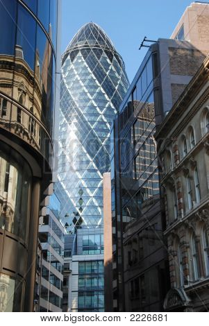 Modern Architecture-City Of London (The Gherkin)