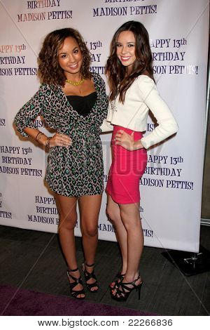 LOS ANGELES - JUL 31:  Savannah Jayde, Malese Jow arriving at the13th Birthday Party for Madison Pettis at Eden on July 31, 2011 in Los Angeles, CA