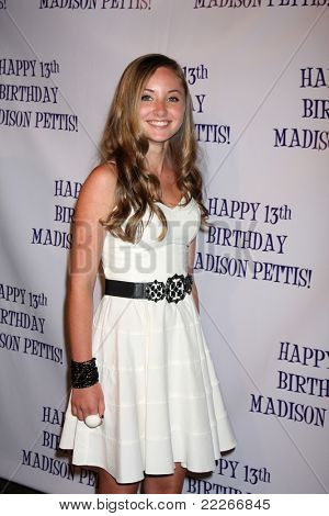 LOS ANGELES - JUL 31:  Rachel Fox arriving at the13th Birthday Party for Madison Pettis at Eden on July 31, 2011 in Los Angeles, CA