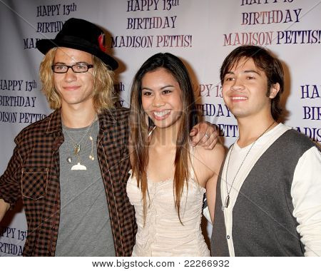 LOS ANGELES - JUL 31:  Dillon Lane, Ashley Argota, Taylor Gray arriving at the13th Birthday Party for Madison Pettis at Eden on July 31, 2011 in Los Angeles, CA