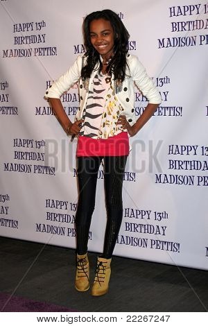 LOS ANGELES - JUL 31:  China Anne McClain arriving at the13th Birthday Party for Madison Pettis at Eden on July 31, 2011 in Los Angeles, CA