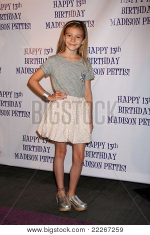 LOS ANGELES - JUL 31:  G Hannelius arriving at the13th Birthday Party for Madison Pettis at Eden on July 31, 2011 in Los Angeles, CA