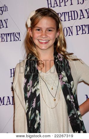 LOS ANGELES - JUL 31:  Taylar Hender arriving at the13th Birthday Party for Madison Pettis at Eden on July 31, 2011 in Los Angeles, CA