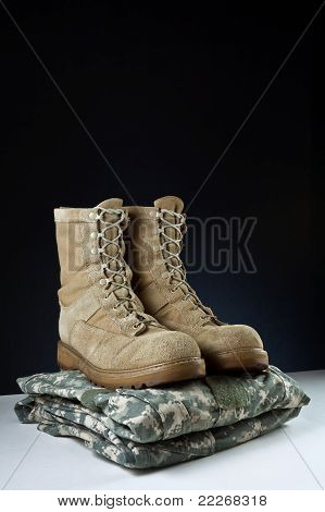 Army Combat Boots - Uniform Angle