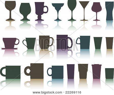 tazas, tazas y vasos