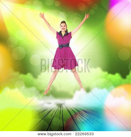 Dancer in the retro style