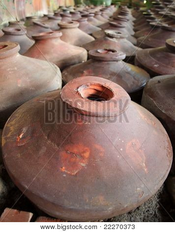 Large Earthenware Pots